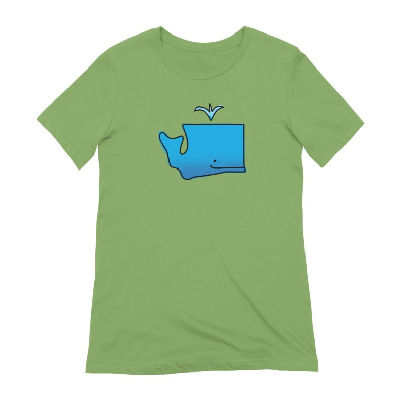 W is for Washington Women's Extra Soft T-Shirt by Illustrations by Phil