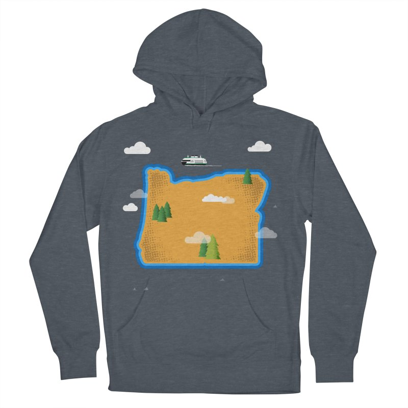 Oregon Island Women's Pullover Hoody by Phillustrations's Artist Shop