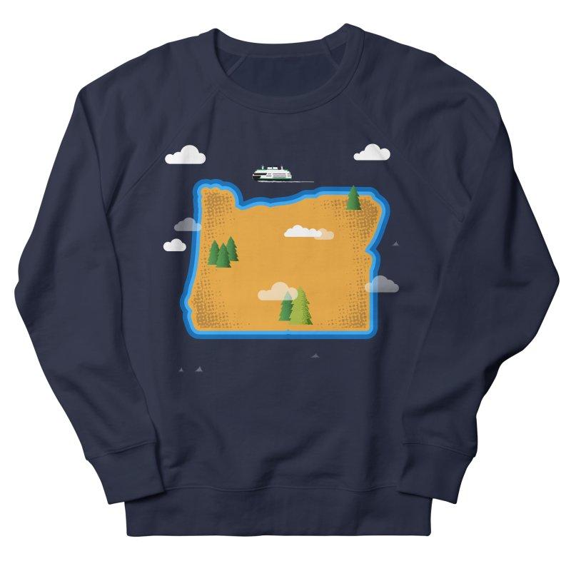 Oregon Island Men's Sweatshirt by Phillustrations's Artist Shop