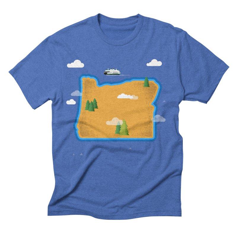 Oregon Island Men's Triblend T-Shirt by Phillustrations's Artist Shop