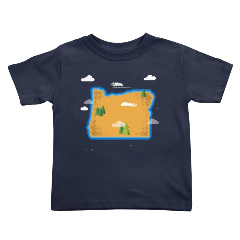 Oregon Island Kids Toddler T-Shirt by Phillustrations's Artist Shop