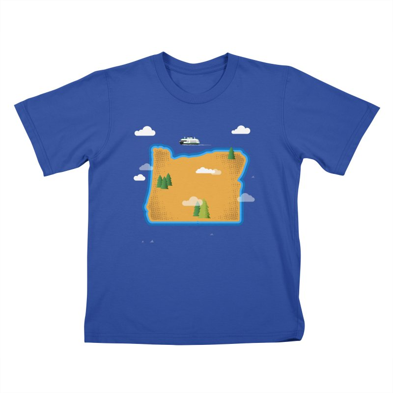 Oregon Island Kids T-Shirt by Phillustrations's Artist Shop