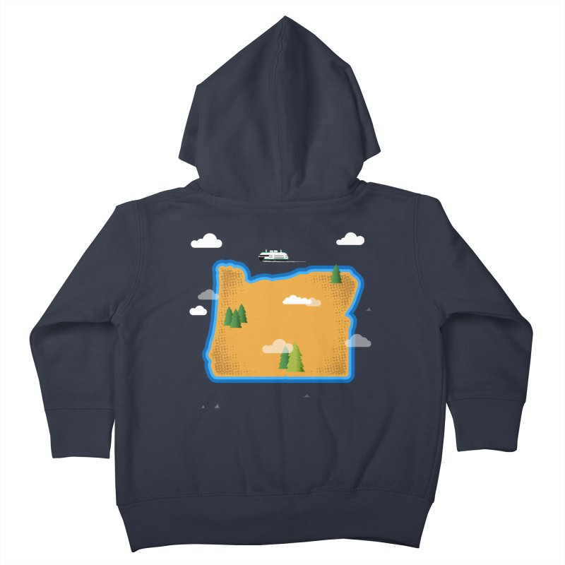 Oregon Island Kids Toddler Zip-Up Hoody by Phillustrations's Artist Shop