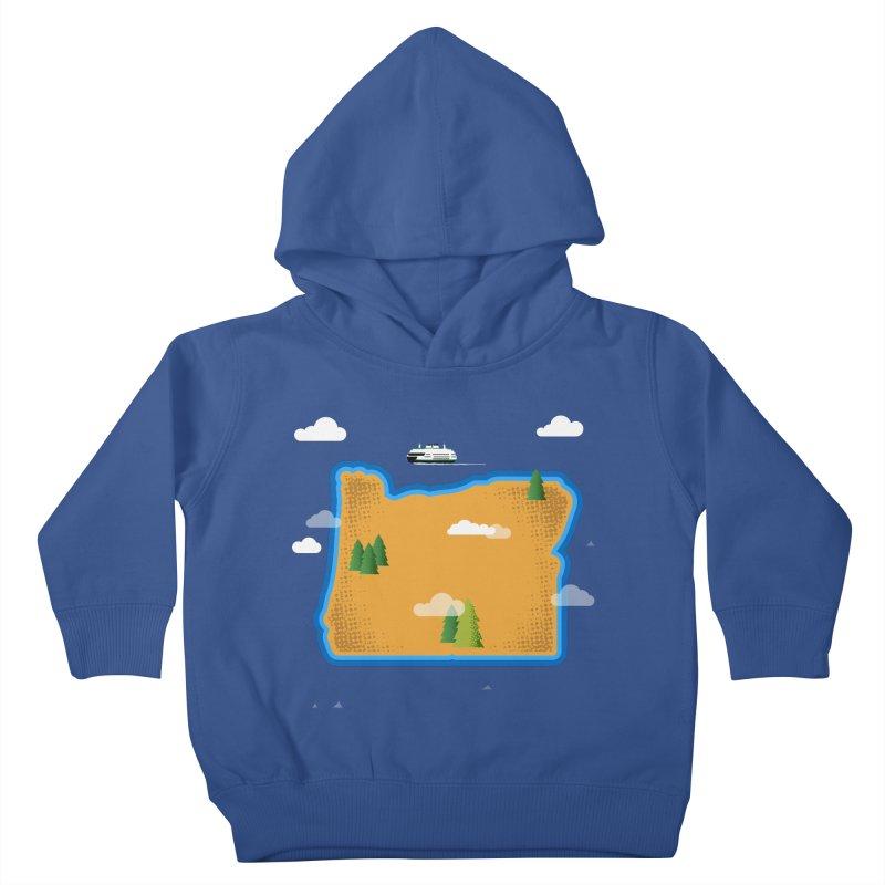 Oregon Island Kids Toddler Pullover Hoody by Phillustrations's Artist Shop