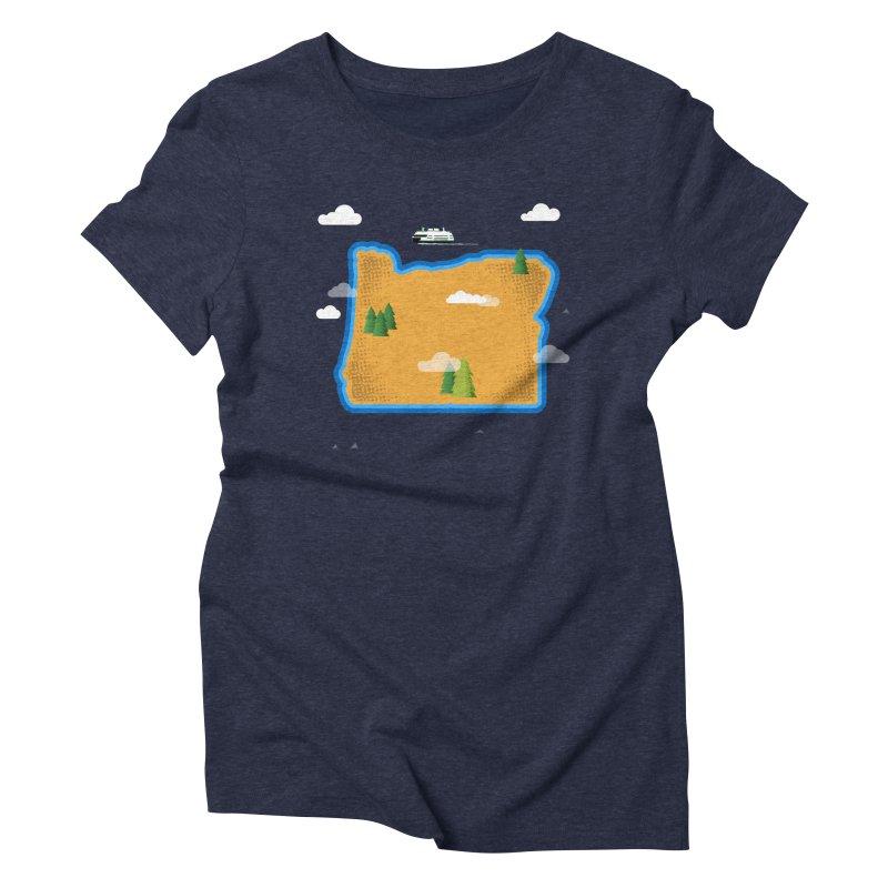 Oregon Island Women's Triblend T-Shirt by Phillustrations's Artist Shop