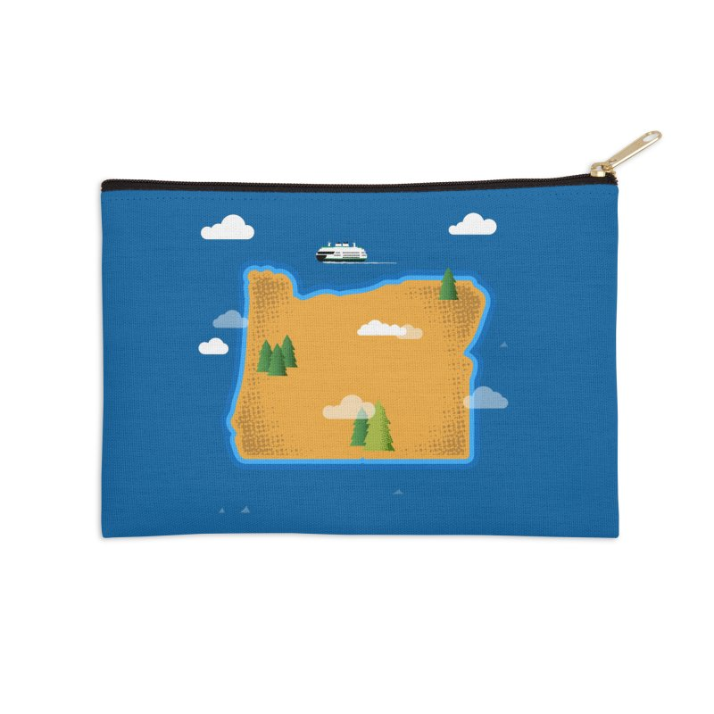 Oregon Island Accessories Zip Pouch by Phillustrations's Artist Shop