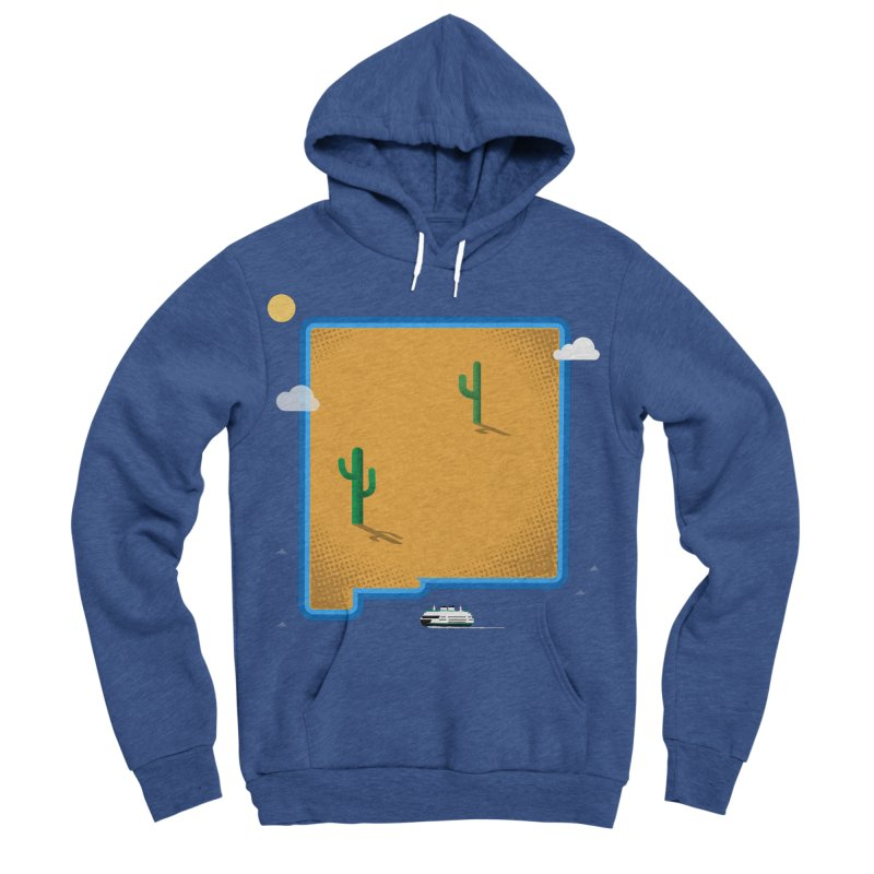 New Mexico Island Men's Sponge Fleece Pullover Hoody by Illustrations by Phil