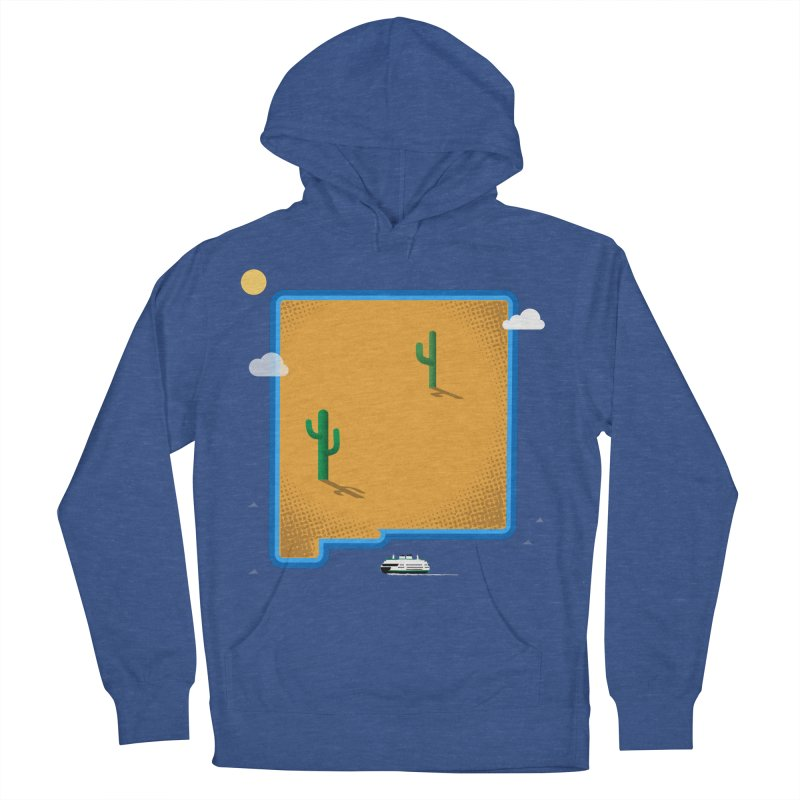 New Mexico Island Men's Pullover Hoody by Phillustrations's Artist Shop