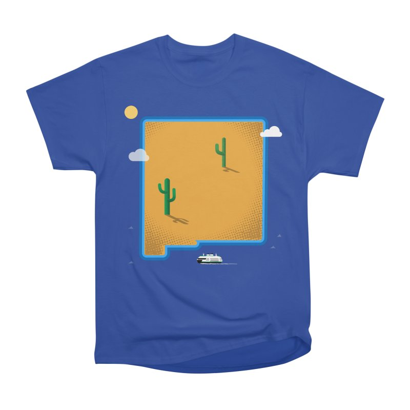 New Mexico Island Men's Heavyweight T-Shirt by Phillustrations's Artist Shop