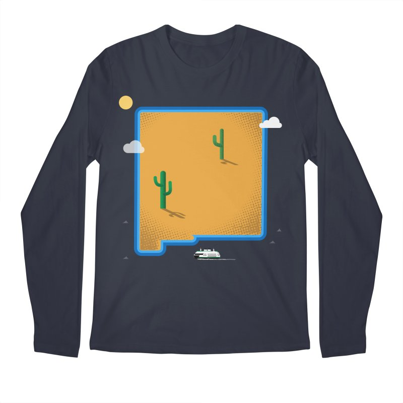 New Mexico Island Men's Longsleeve T-Shirt by Phillustrations's Artist Shop