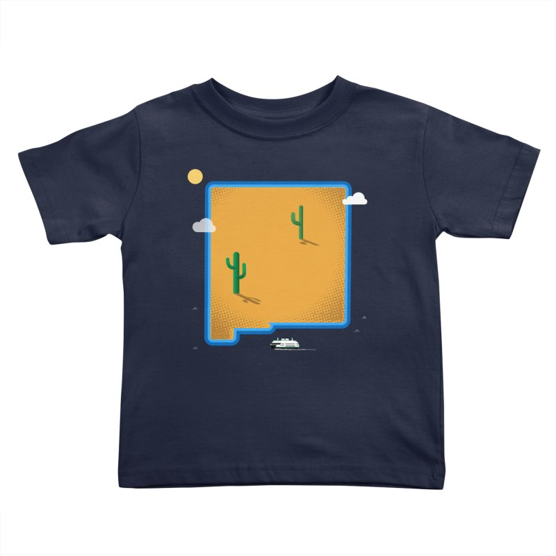 New Mexico Island Kids Toddler T-Shirt by Phillustrations's Artist Shop