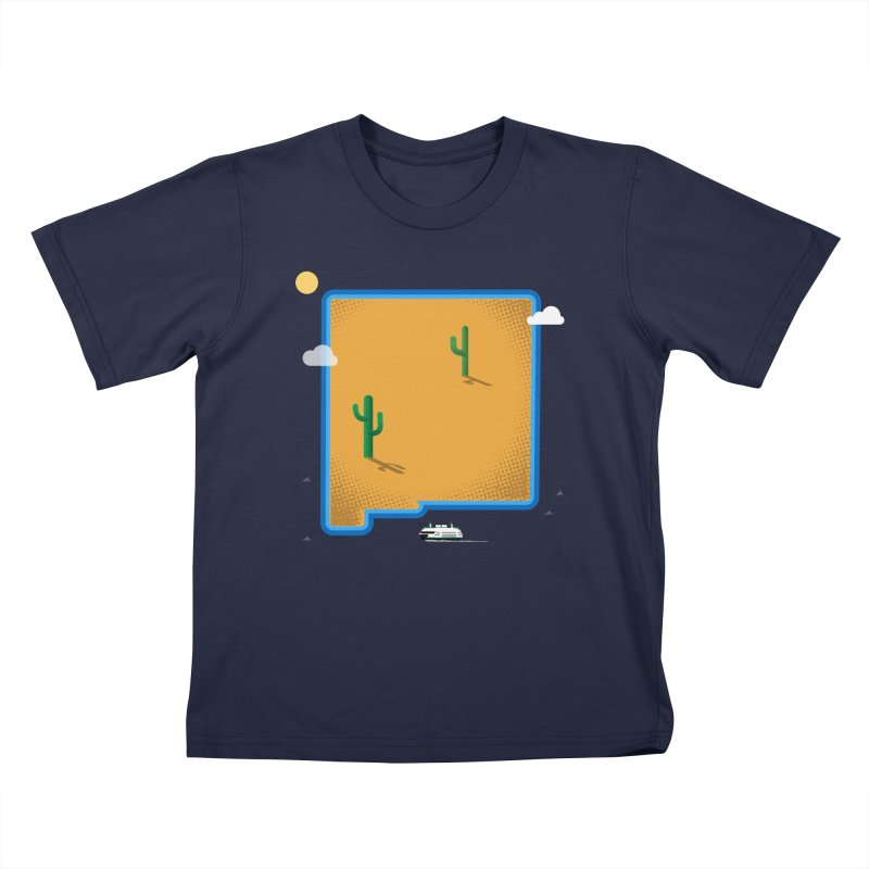 New Mexico Island Kids T-Shirt by Phillustrations's Artist Shop