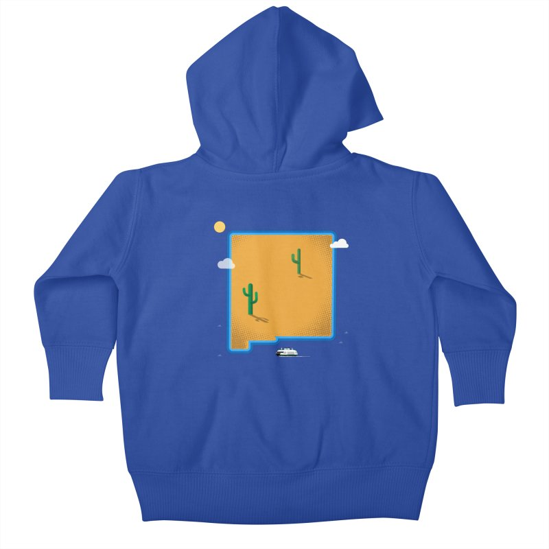New Mexico Island Kids Baby Zip-Up Hoody by Phillustrations's Artist Shop