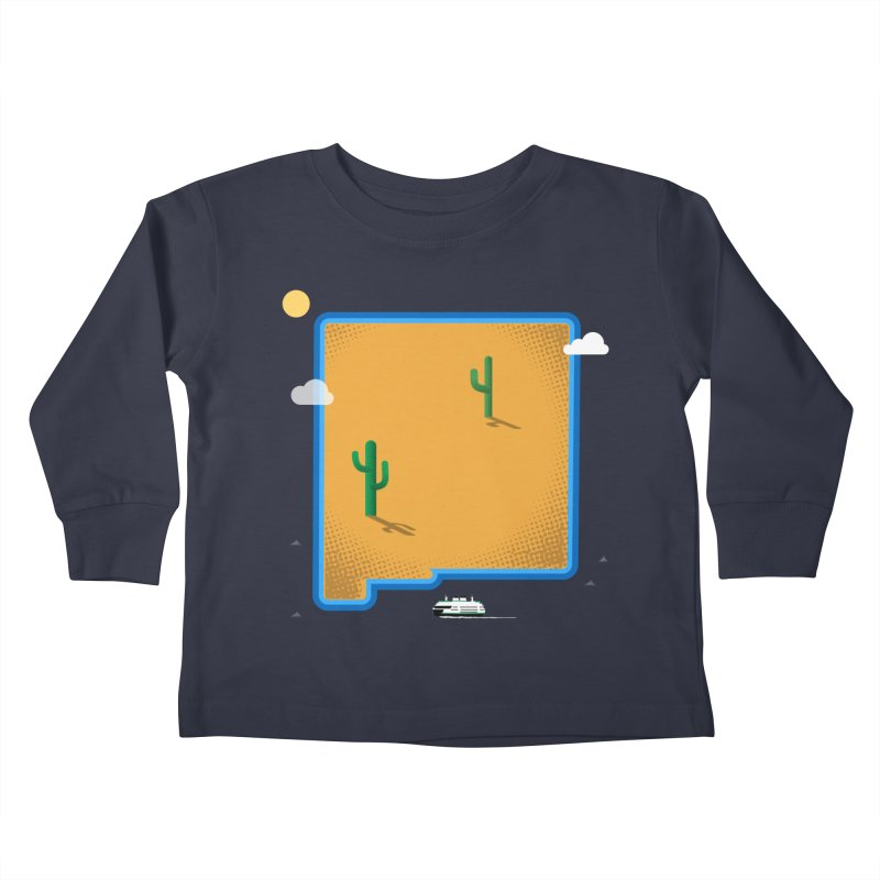 New Mexico Island Kids Toddler Longsleeve T-Shirt by Illustrations by Phil