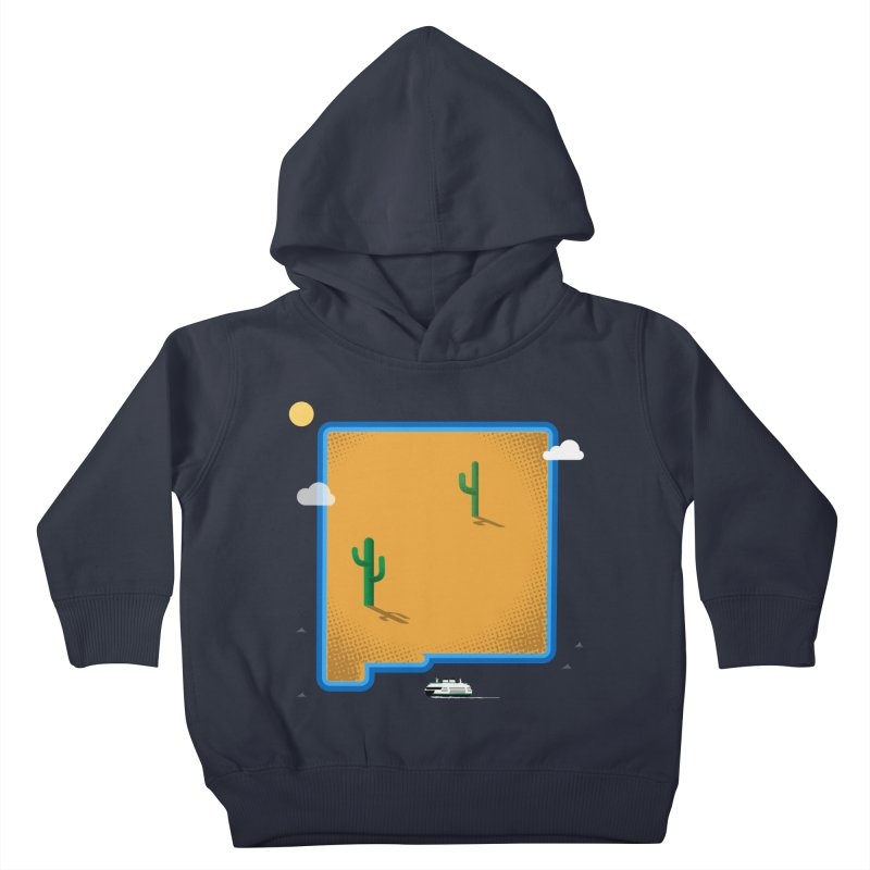New Mexico Island Kids Toddler Pullover Hoody by Phillustrations's Artist Shop