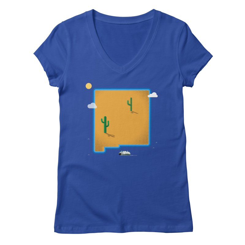 New Mexico Island Women's V-Neck by Phillustrations's Artist Shop