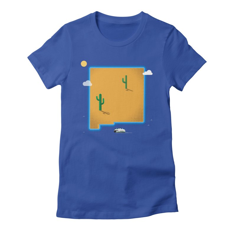 New Mexico Island Women's Fitted T-Shirt by Phillustrations's Artist Shop