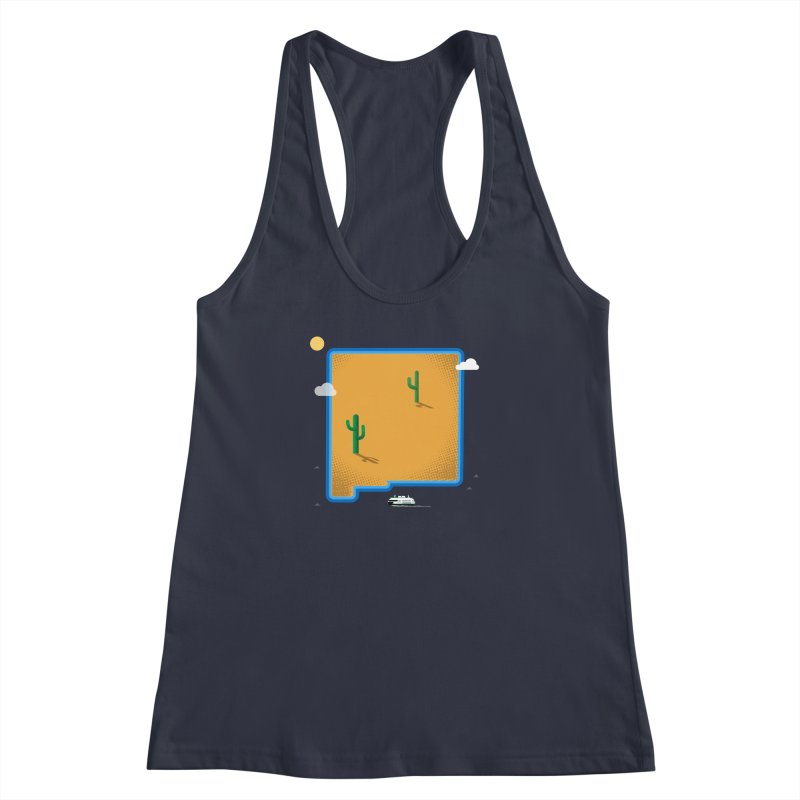 New Mexico Island Women's Racerback Tank by Phillustrations's Artist Shop