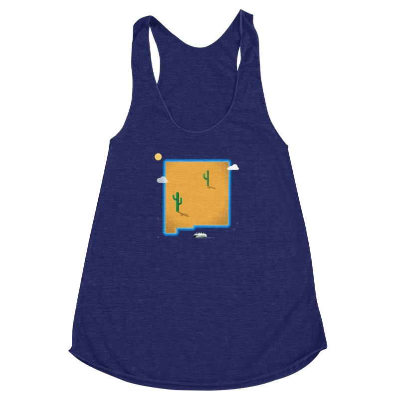 New Mexico Island Women's Racerback Triblend Tank by Phillustrations's Artist Shop