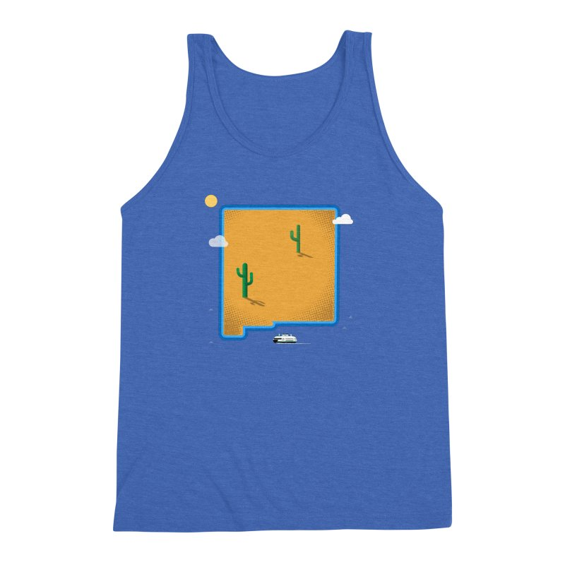 New Mexico Island Men's Triblend Tank by Phillustrations's Artist Shop