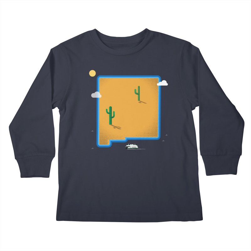 New Mexico Island Kids Longsleeve T-Shirt by Phillustrations's Artist Shop
