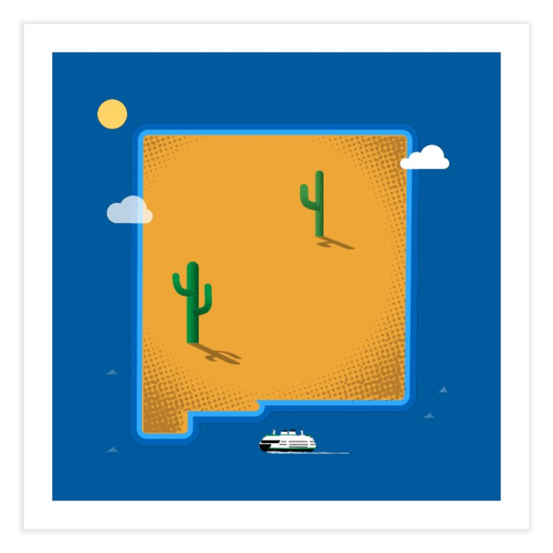 New Mexico Island Home Fine Art Print by Phillustrations's Artist Shop