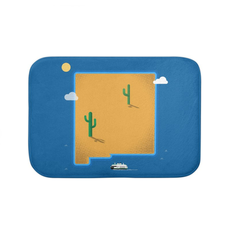 New Mexico Island Home Bath Mat by Phillustrations's Artist Shop