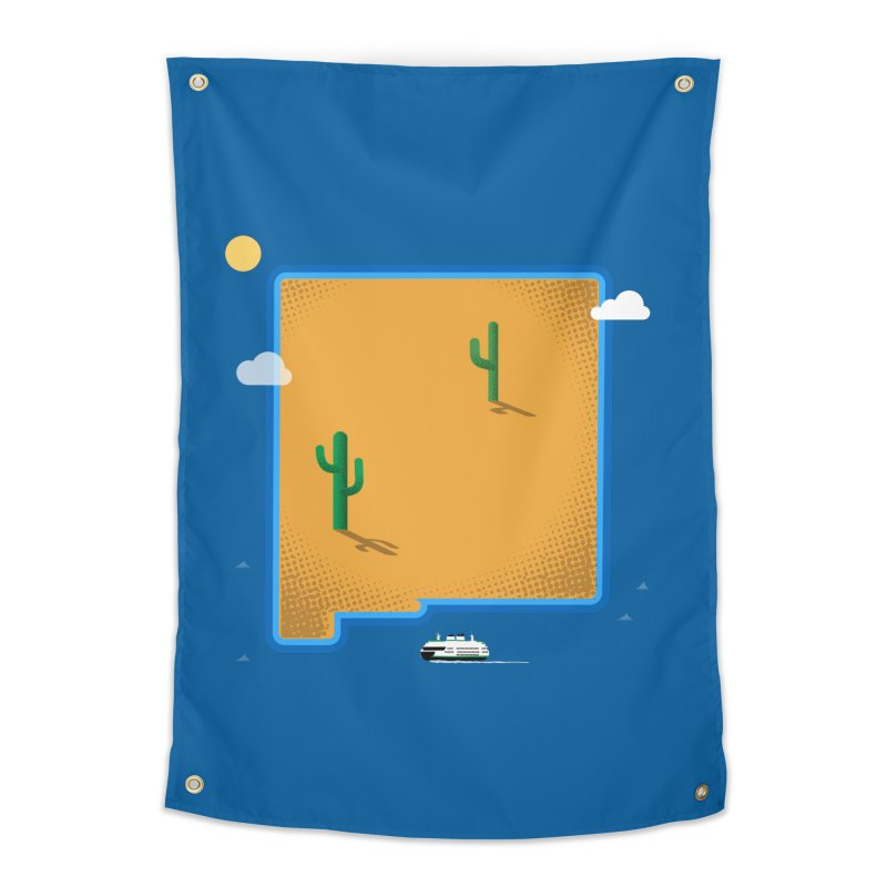 New Mexico Island Home Tapestry by Phillustrations's Artist Shop