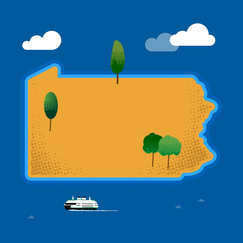 Pennsylvania Island by Phillustrations's Artist Shop
