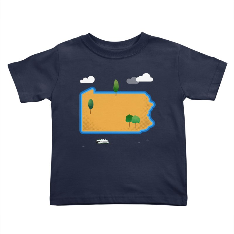 Pennsylvania Island Kids Toddler T-Shirt by Illustrations by Phil