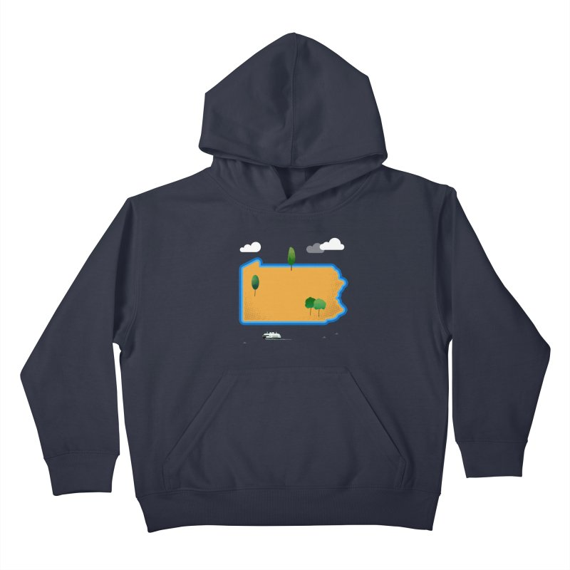 Pennsylvania Island Kids Pullover Hoody by Illustrations by Phil
