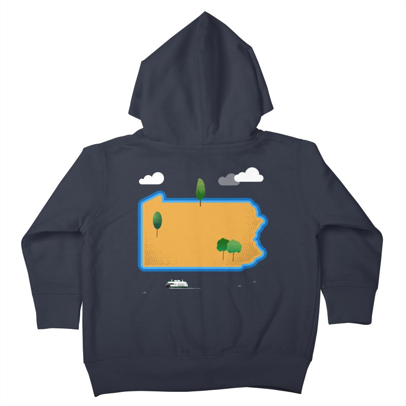 Pennsylvania Island Kids Toddler Zip-Up Hoody by Illustrations by Phil