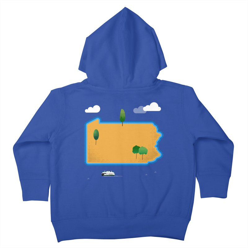 Pennsylvania Island Kids Toddler Zip-Up Hoody by Phillustrations's Artist Shop