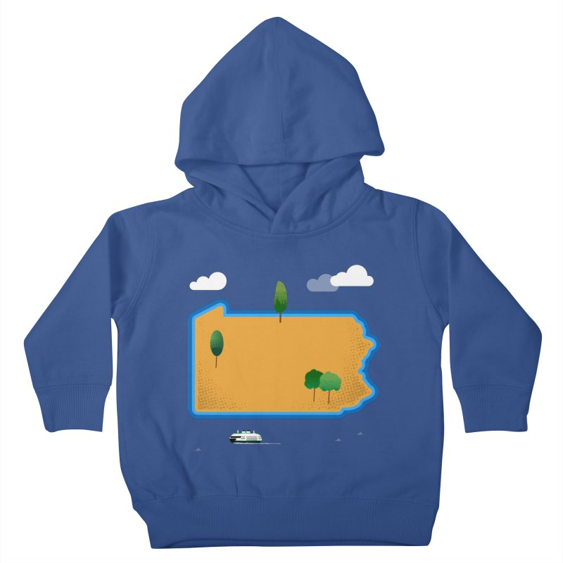 Pennsylvania Island Kids Toddler Pullover Hoody by Illustrations by Phil