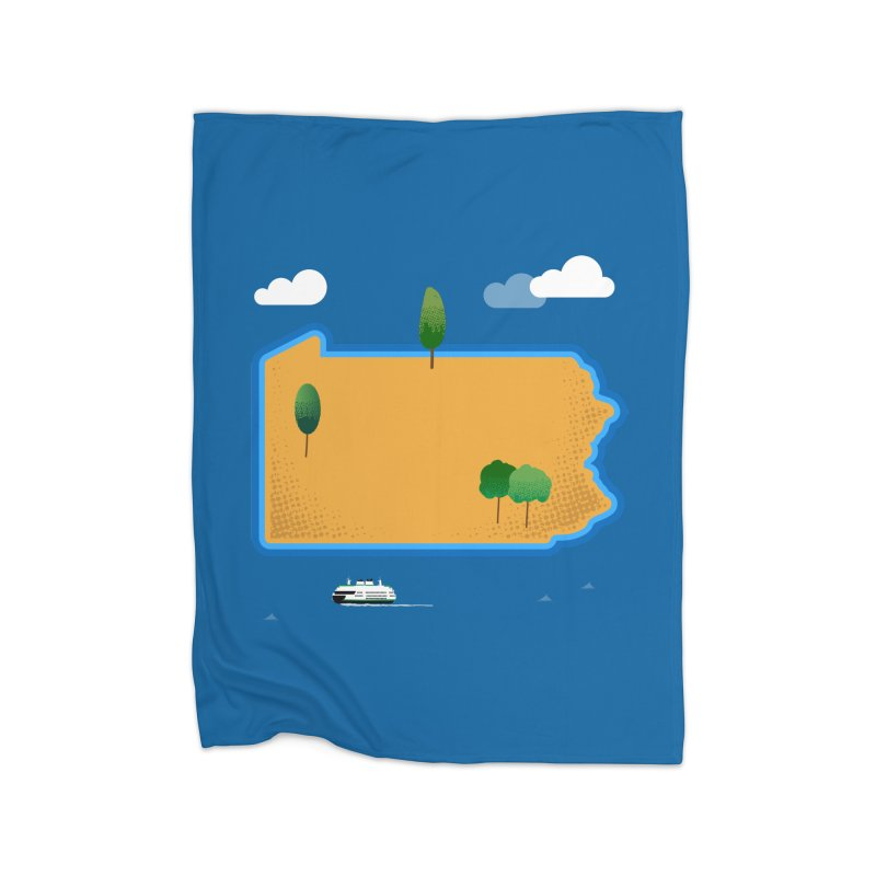 Pennsylvania Island Home Blanket by Phillustrations's Artist Shop