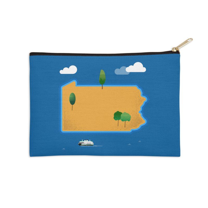 Pennsylvania Island Accessories Zip Pouch by Phillustrations's Artist Shop