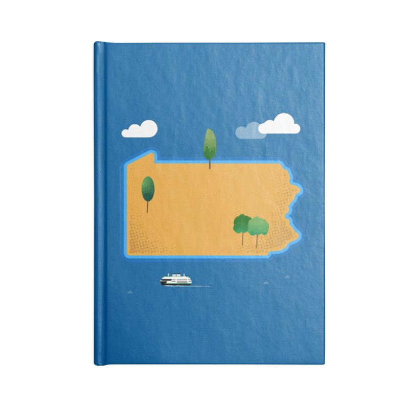 Pennsylvania Island Accessories Notebook by Phillustrations's Artist Shop