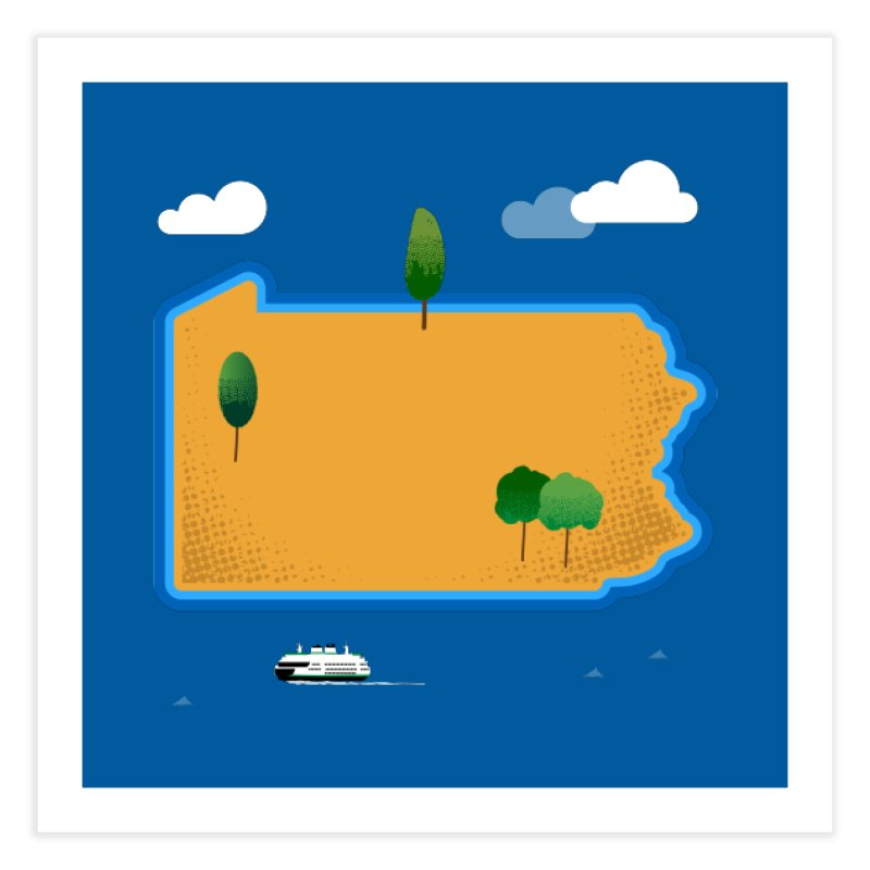 Pennsylvania Island Home Fine Art Print by Phillustrations's Artist Shop