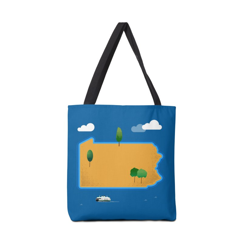 Pennsylvania Island Accessories Bag by Phillustrations's Artist Shop