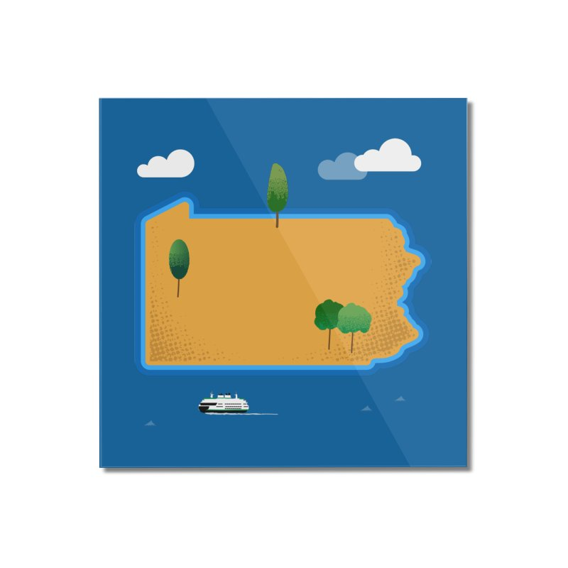 Pennsylvania Island Home Mounted Acrylic Print by Phillustrations's Artist Shop