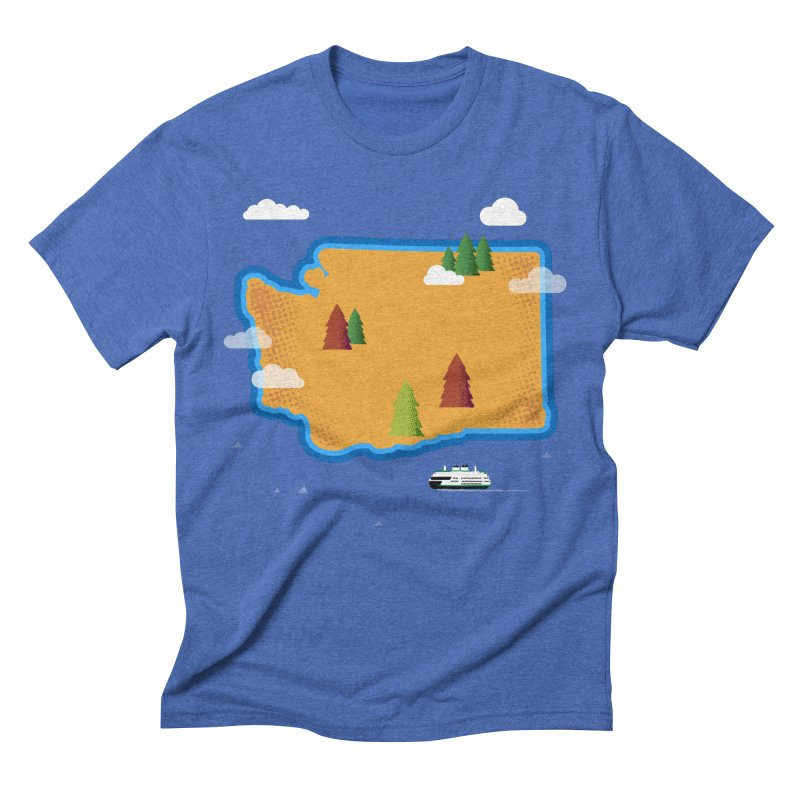 Washington Island Men's Triblend T-Shirt by Phillustrations's Artist Shop