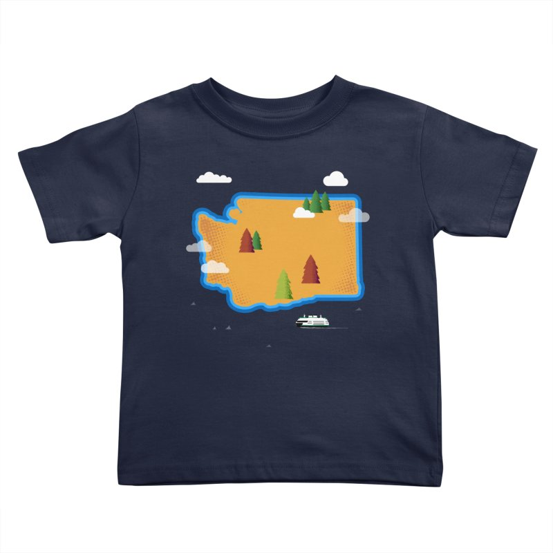 Washington Island Kids Toddler T-Shirt by Illustrations by Phil