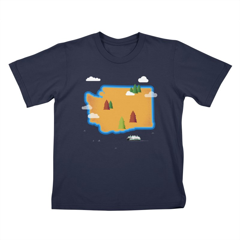 Washington Island Kids T-Shirt by Illustrations by Phil