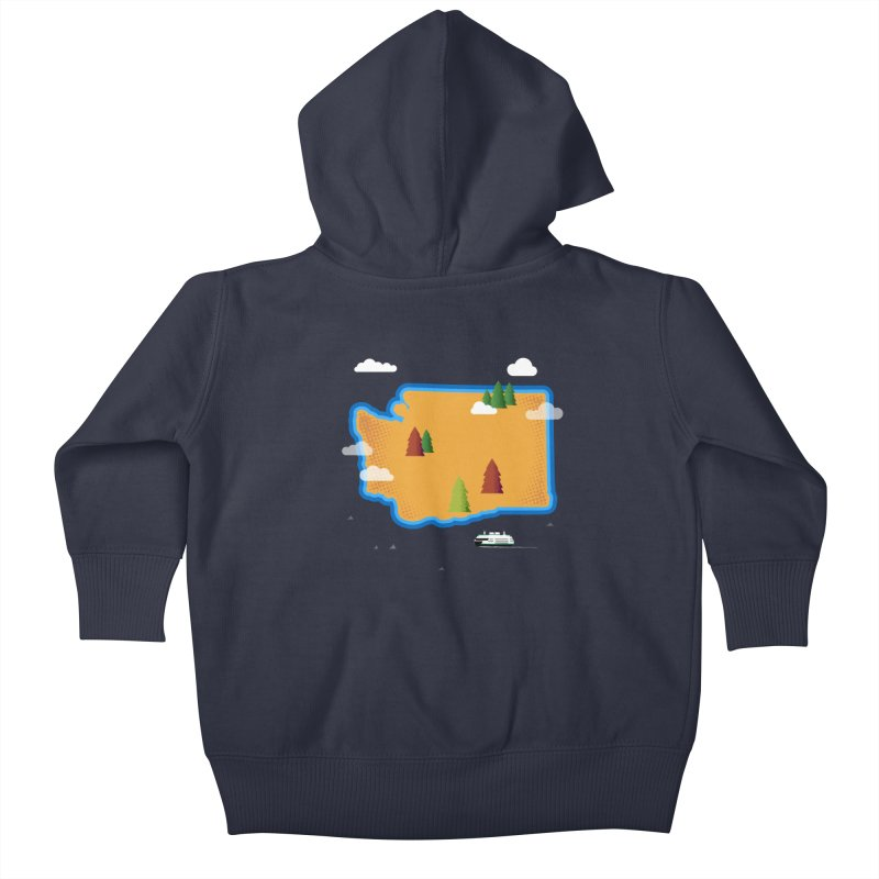 Washington Island Kids Baby Zip-Up Hoody by Illustrations by Phil