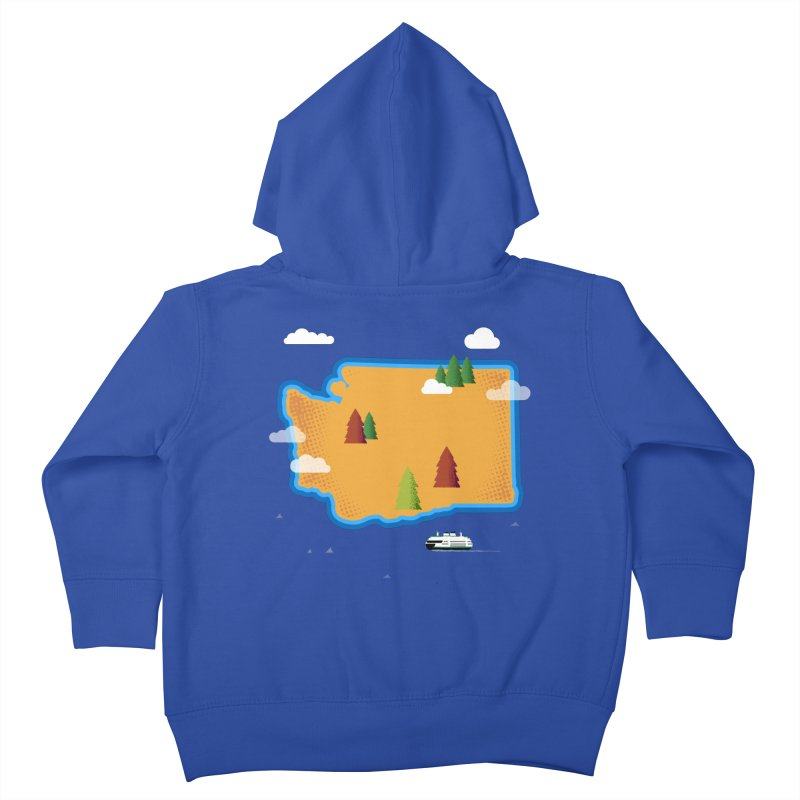 Washington Island Kids Toddler Zip-Up Hoody by Phillustrations's Artist Shop