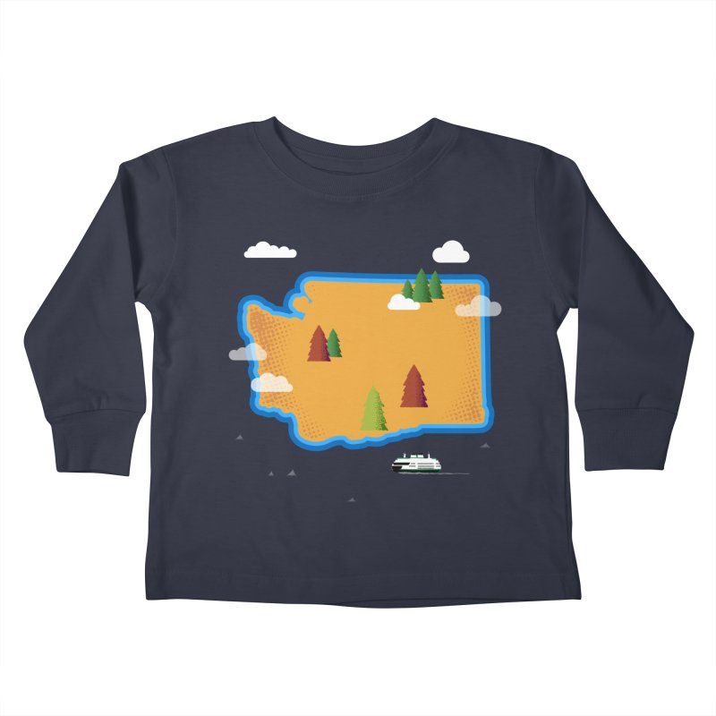 Washington Island Kids Toddler Longsleeve T-Shirt by Illustrations by Phil