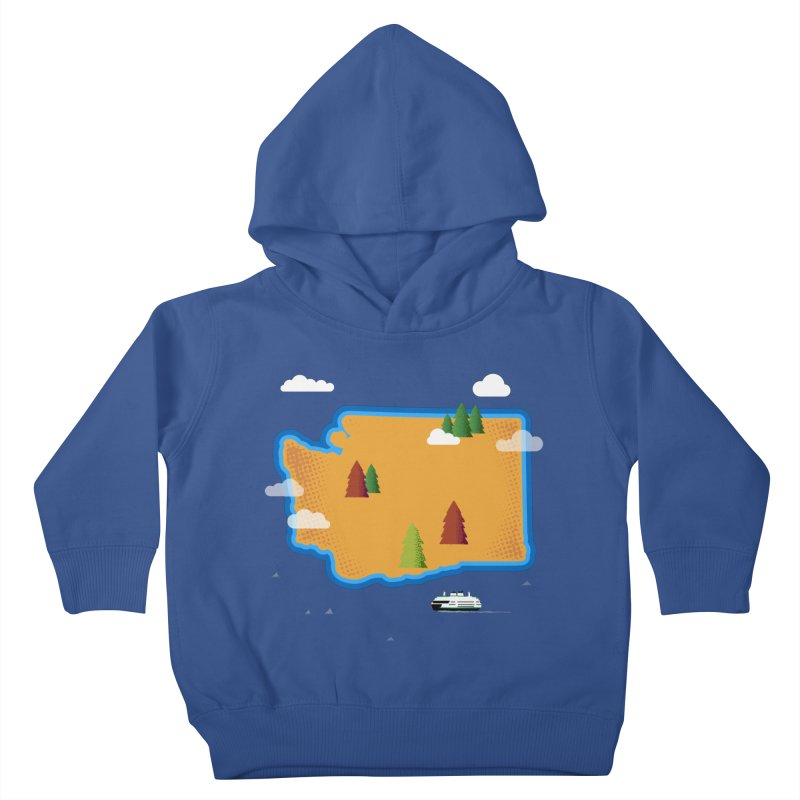 Washington Island Kids Toddler Pullover Hoody by Illustrations by Phil