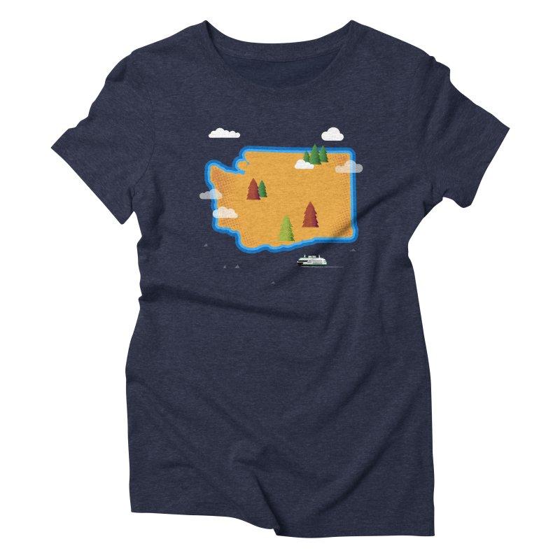 Washington Island Women's Triblend T-Shirt by Phillustrations's Artist Shop