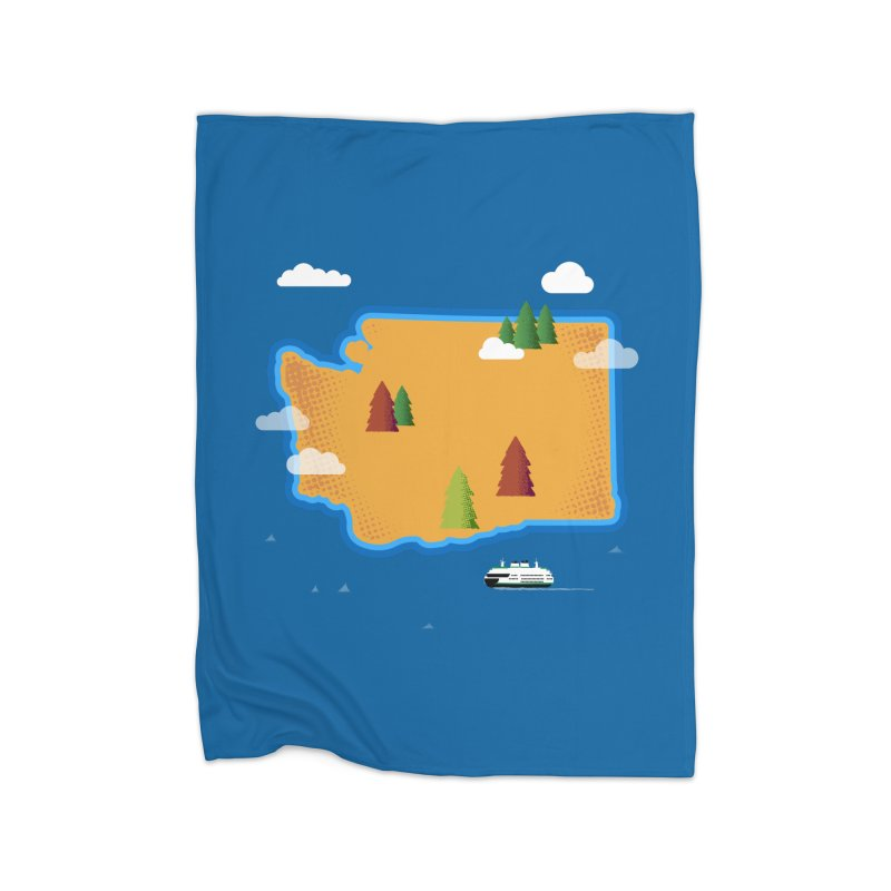 Washington Island Home Blanket by Phillustrations's Artist Shop