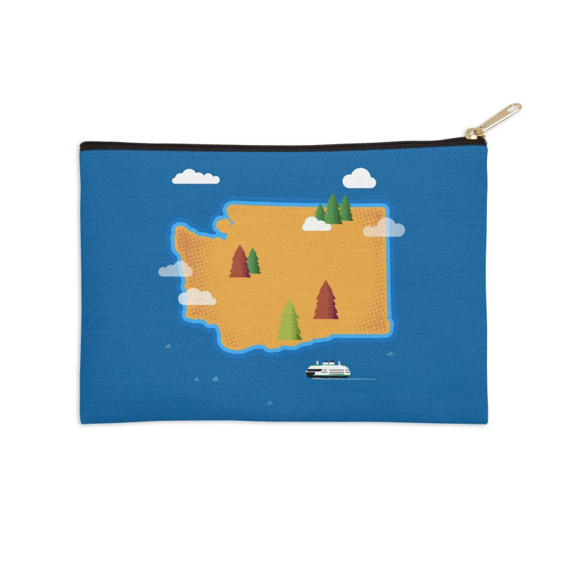Washington Island Accessories Zip Pouch by Phillustrations's Artist Shop